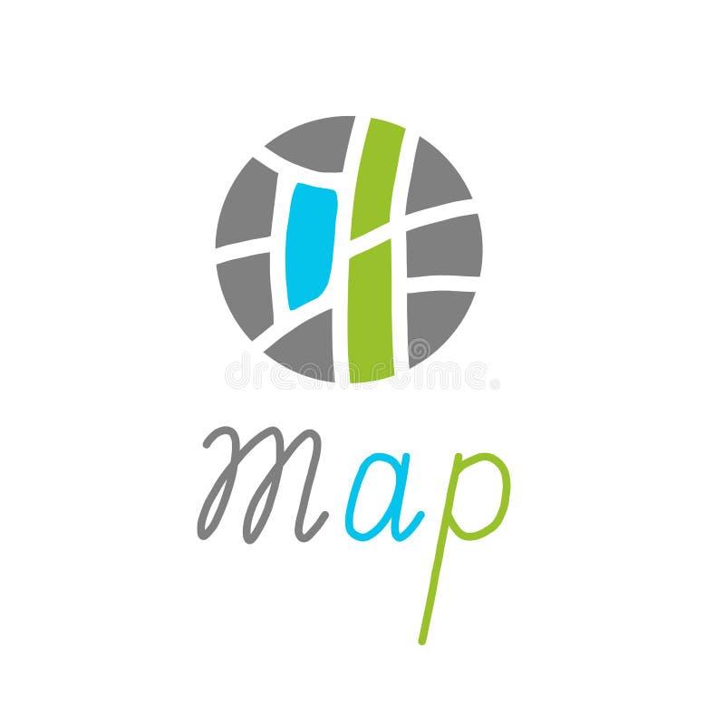 Concetto creativo di simbolo della mappa della città Illustrazione di vettore royalty illustrazione gratis