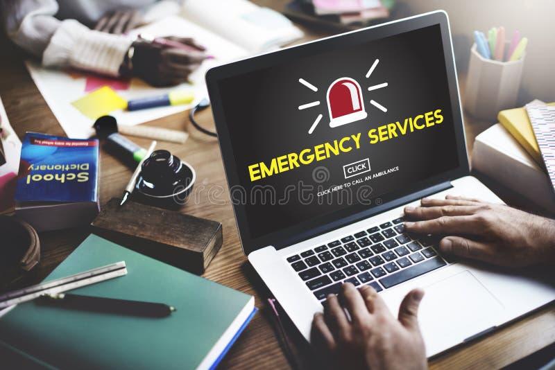 Concetto critico di rischio di crisi accidentale di servizi di soccorso fotografie stock