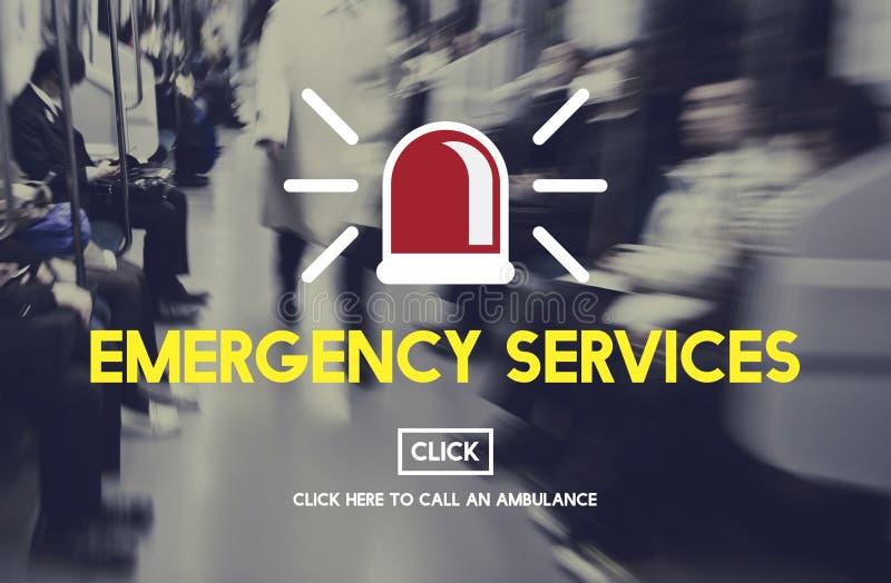 Concetto critico di rischio di crisi accidentale di servizi di soccorso immagine stock