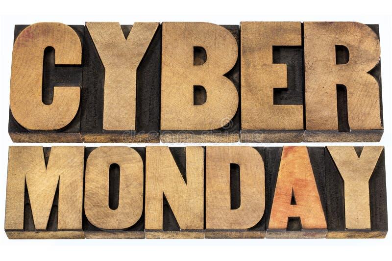 Concetto cyber di acquisto di lunedì fotografie stock libere da diritti
