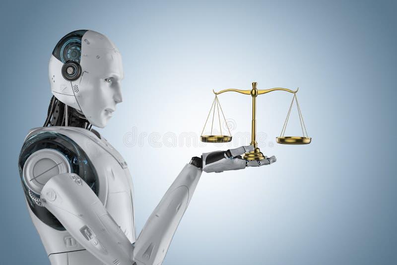 Concetto cyber di legge royalty illustrazione gratis