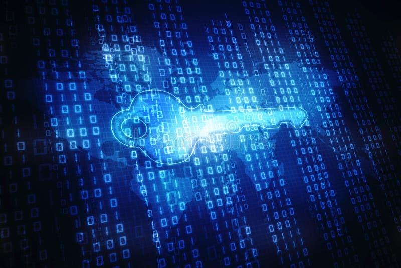 Concetto cyber di sicurezza, concetto di sicurezza di Internet illustrazione vettoriale