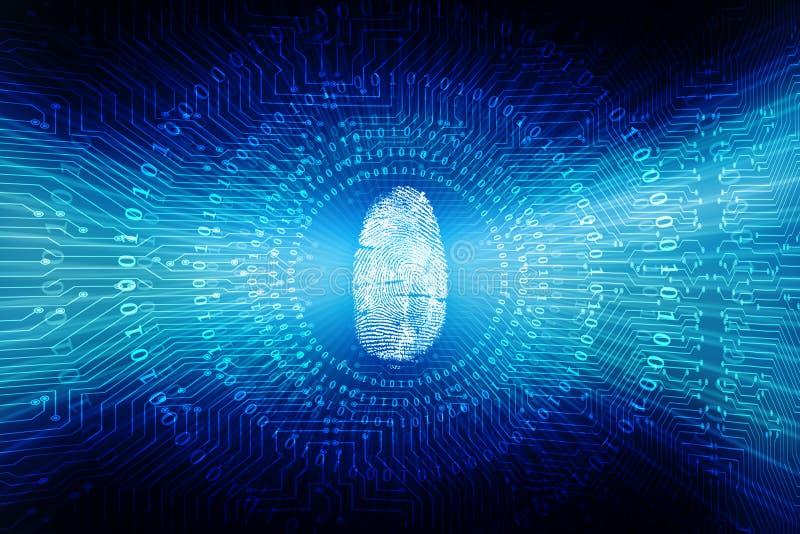 Concetto cyber di sicurezza, concetto di sicurezza di Internet, schermo su fondo digitale illustrazione vettoriale