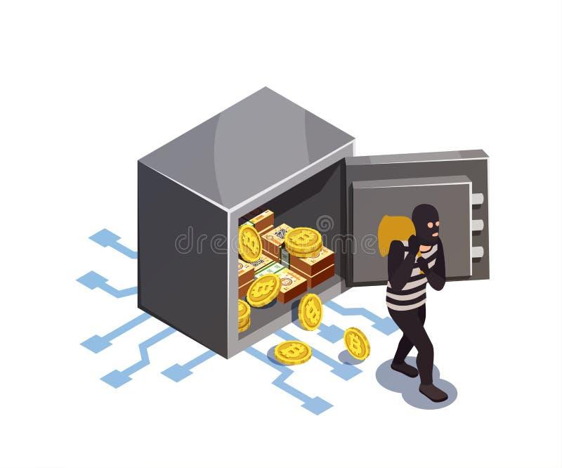 Concetto cyber di Strappo-lavoro royalty illustrazione gratis