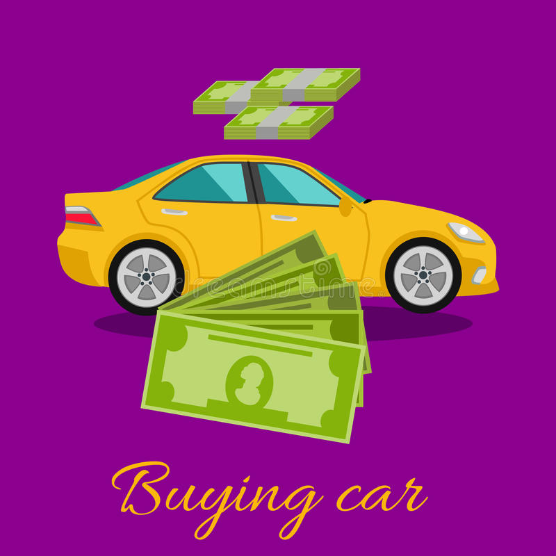 Concetto d'acquisto dell'automobile illustrazione vettoriale
