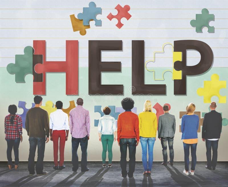 Concetto d'aiuto di servizio di sostegno di aiuto immagini stock libere da diritti