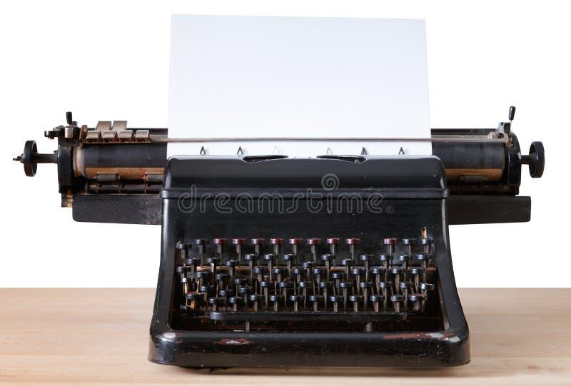 Concetto d'annata della macchina da scrivere, di giornalismo e di scrittura fotografia stock