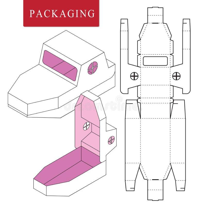 Concetto d'imballaggio della nave del modello per l'affare royalty illustrazione gratis