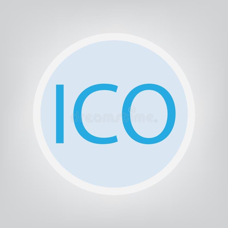 Concetto d'offerta della moneta di iniziale di ICO illustrazione vettoriale