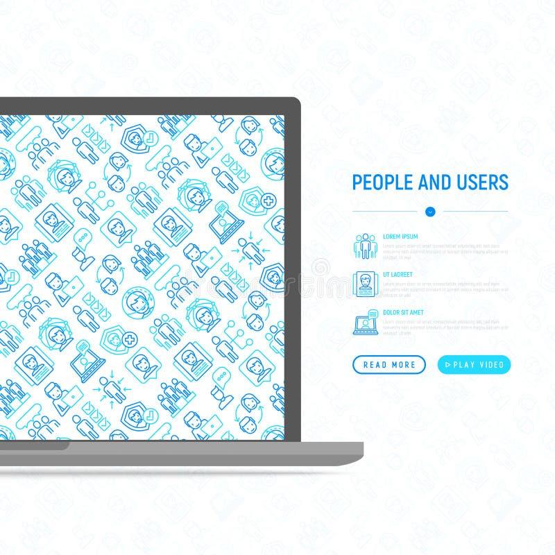 Concetto degli utenti e della gente illustrazione di stock