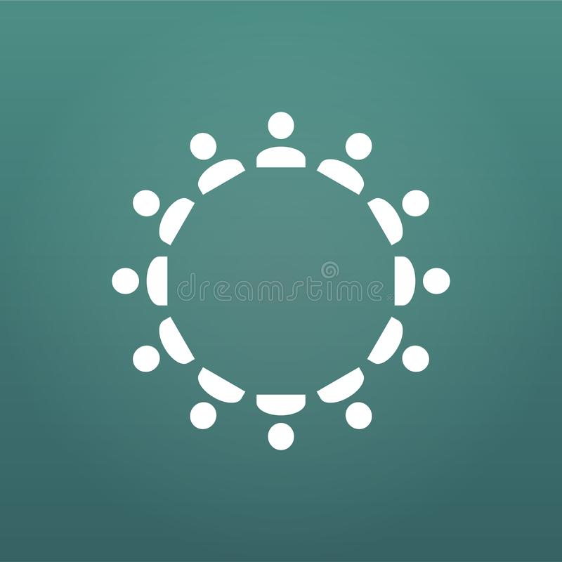 Concetto degli utenti e della gente in gestione del cerchio, comunicazione, resouses umani, lavoro di squadra, Illustrazione mode illustrazione di stock
