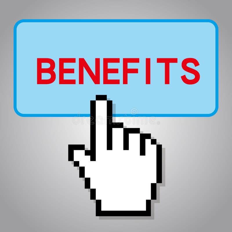 Concetto dei benefici illustrazione di stock