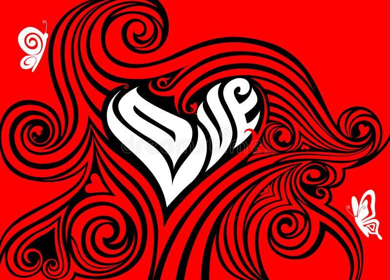 Concetto dei biglietti di S. Valentino royalty illustrazione gratis