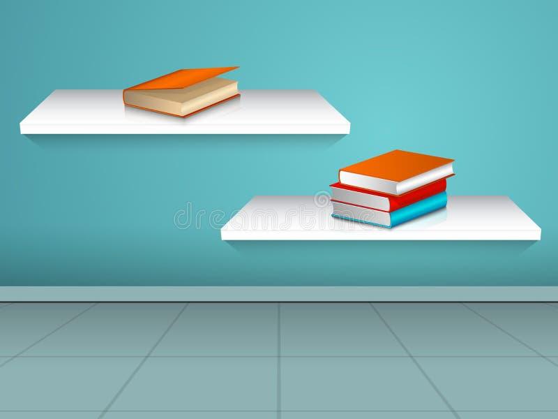 Concetto dei libri con lo scaffale illustrazione di stock
