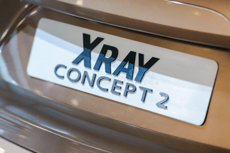 Concetto 2 dei RAGGI X di Lada dell'incrocio Frammento, iscrizione fotografia stock libera da diritti