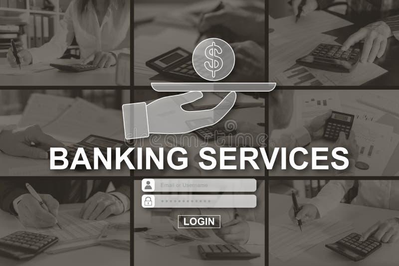 Concetto dei servizi bancari fotografie stock libere da diritti
