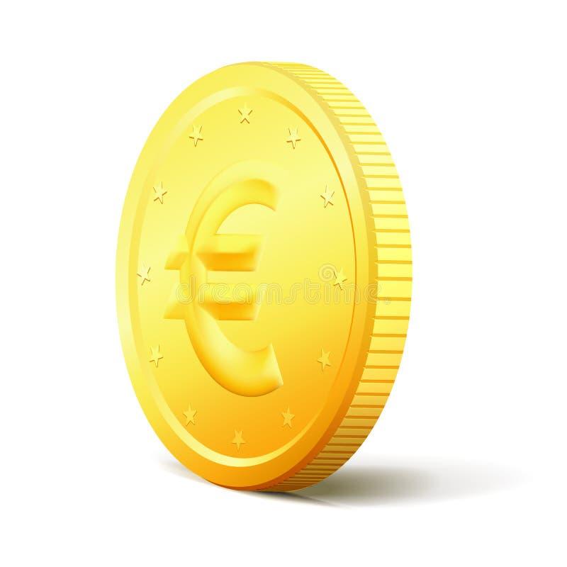 Concetto dei soldi di scambio Moneta dorata di vettore di due lati illustrazione vettoriale