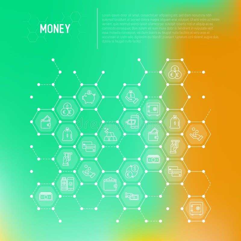 Concetto dei soldi in favi illustrazione vettoriale