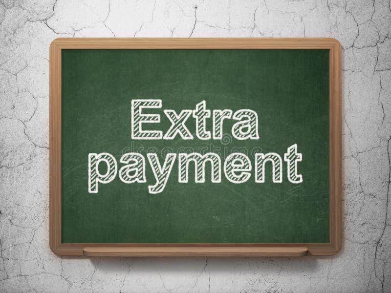 Concetto dei soldi: Indennità supplementare sul fondo della lavagna illustrazione vettoriale