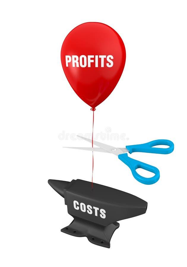Concetto dei tagli di costi royalty illustrazione gratis