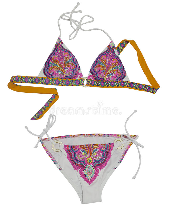 Concetto del bikini di estate fotografia stock