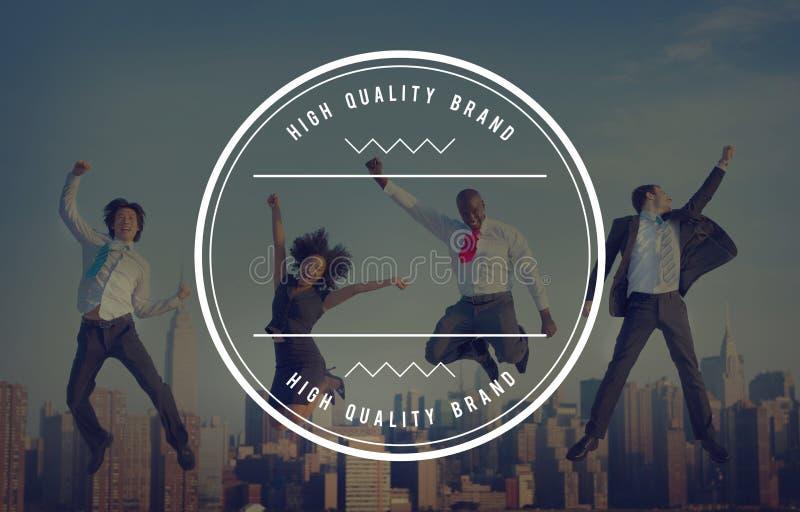 Concetto del bollo del distintivo di marca di alta qualità migliore royalty illustrazione gratis