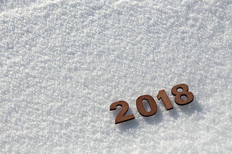 Concetto 2018 del buon anno immagini stock