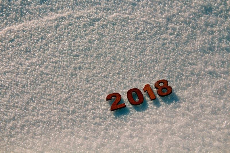 Concetto 2018 del buon anno immagini stock libere da diritti