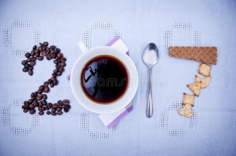 Concetto 2017 del caffè immagine stock libera da diritti