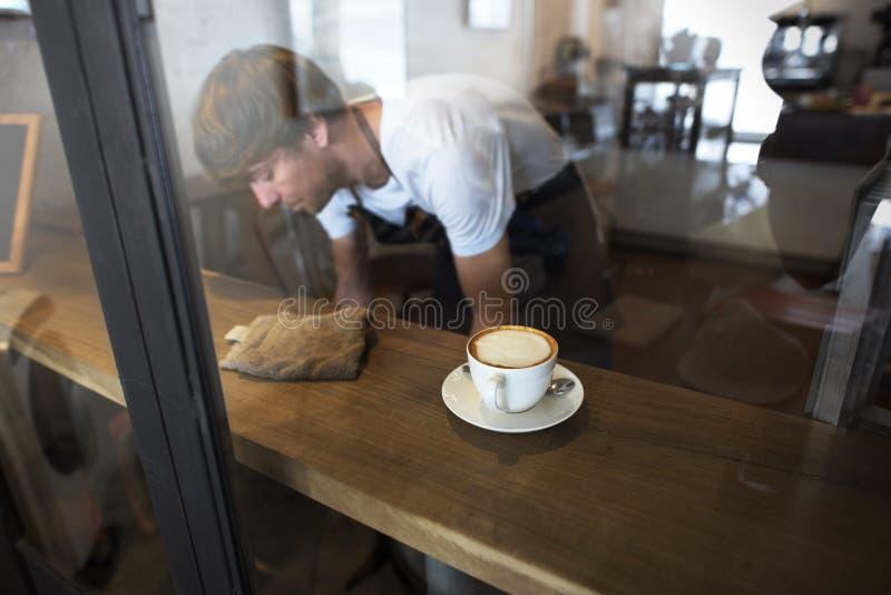 Concetto del caffè di servizio di assistenza al cliente del personale di servizio del servizio fotografia stock libera da diritti