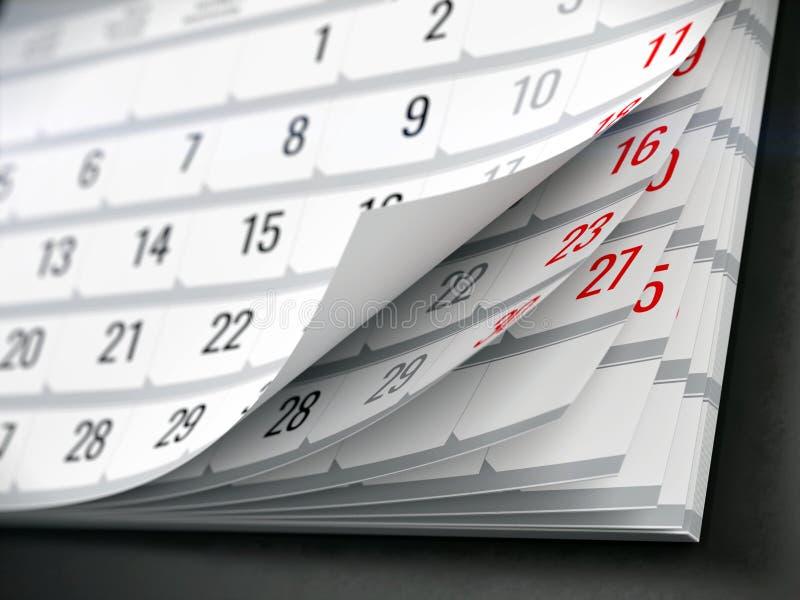 Concetto del calendario, ricordo, organizzante royalty illustrazione gratis