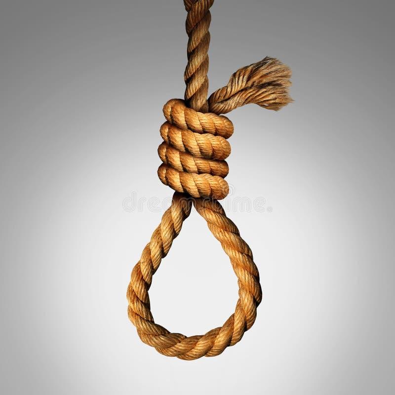 Concetto del cappio di suicidio royalty illustrazione gratis