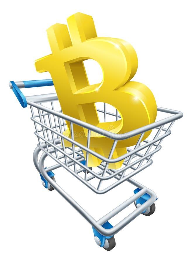 Concetto del carrello di Bitcoin illustrazione di stock
