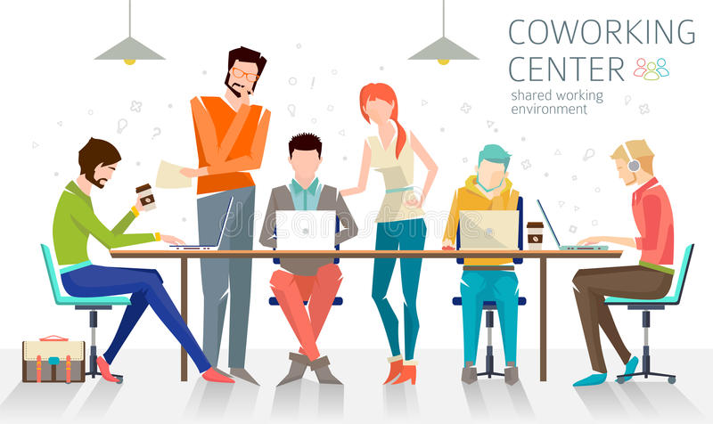 Concetto del centro coworking fotografia stock