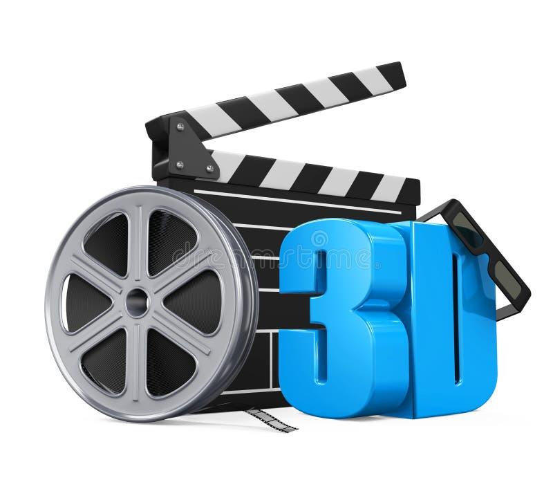 Concetto del cinema di film illustrazione di stock