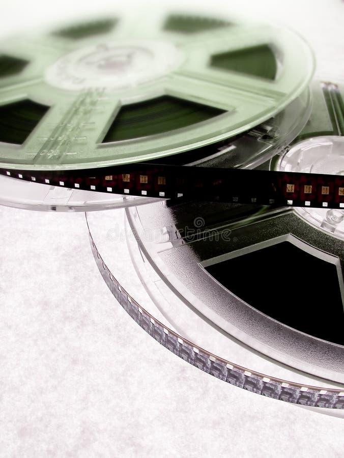 Concetto del cinematografo - bobine di pellicola fotografie stock libere da diritti