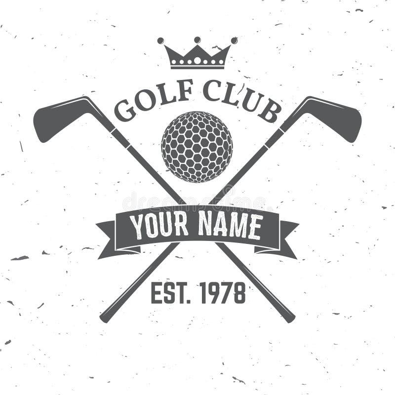Concetto del club di golf illustrazione di stock
