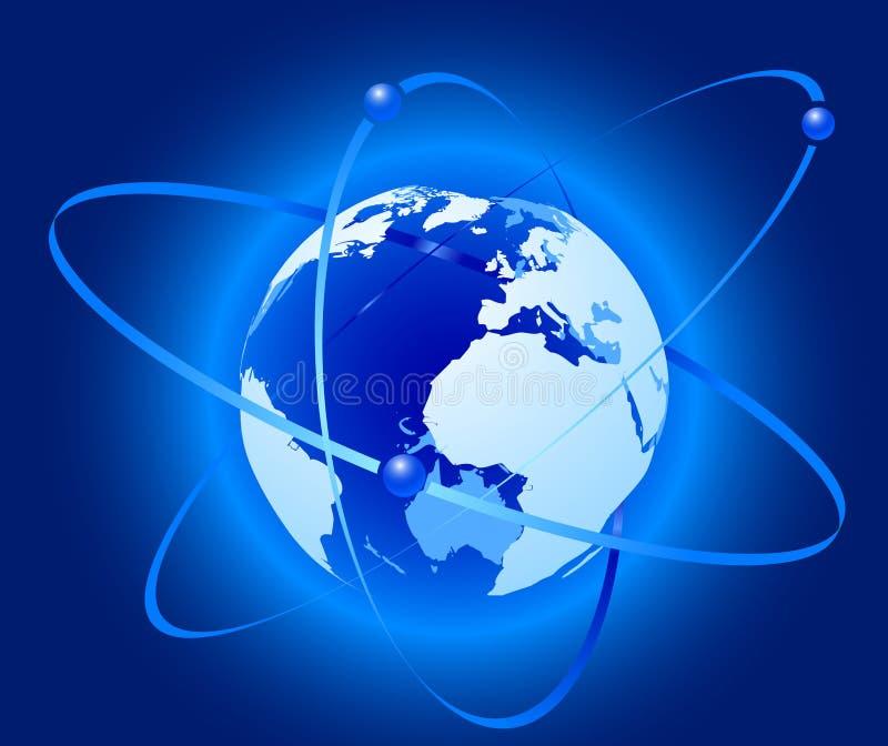 Concetto del collegamento - pianeta illustrazione vettoriale