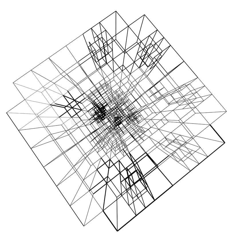 Concetto del collegare della struttura di architettura della città illustrazione di stock