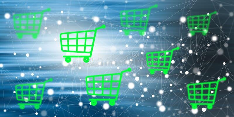 Concetto del commercio elettronico illustrazione di stock