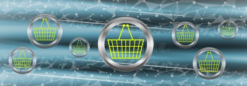Concetto del commercio elettronico illustrazione vettoriale