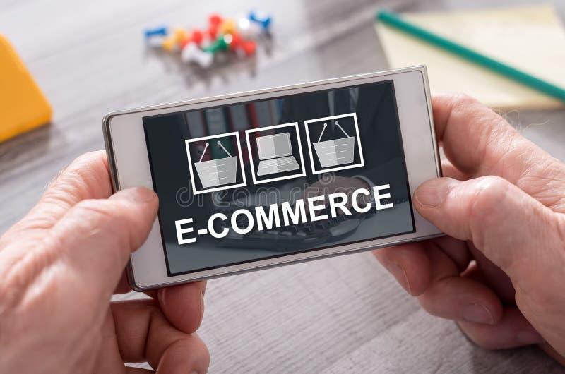 Concetto del commercio elettronico immagini stock