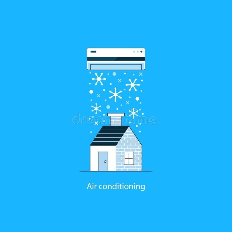 Concetto del condizionamento d'aria royalty illustrazione gratis