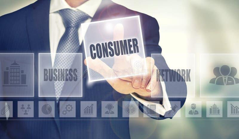 Concetto del consumatore fotografie stock libere da diritti