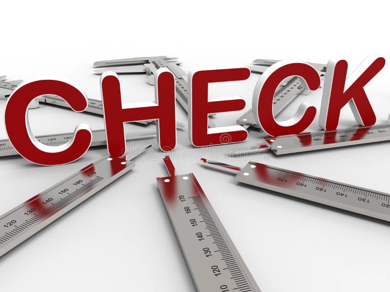 Concetto del controllo dei calibri illustrazione vettoriale