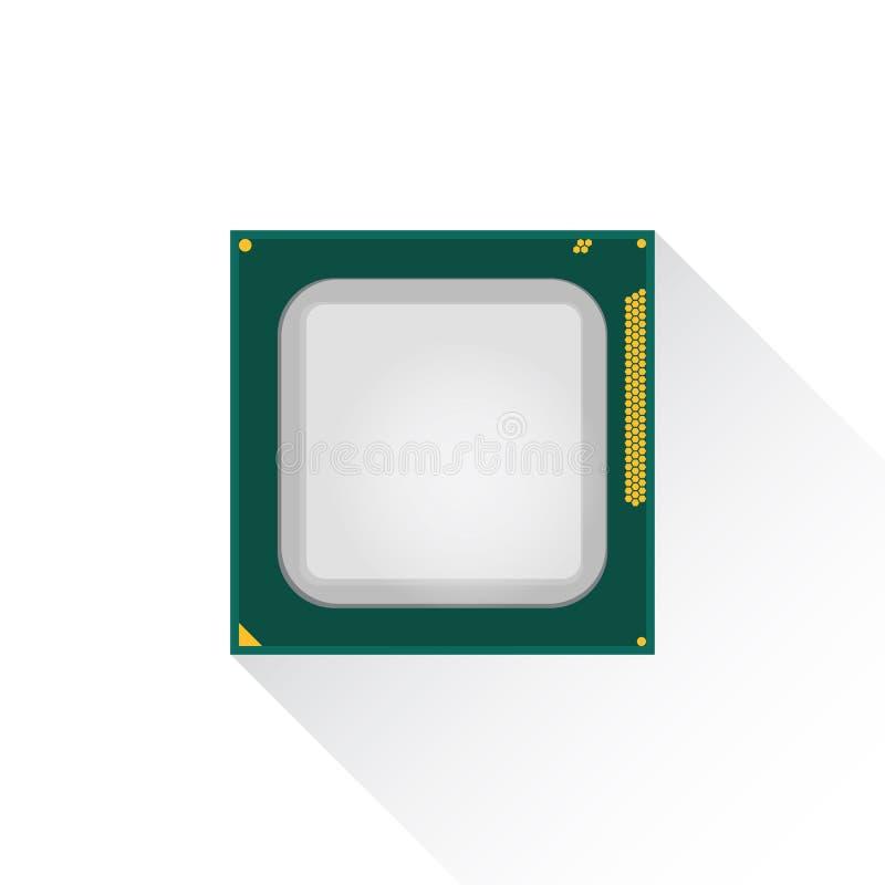 Concetto del CPU dell'unità centrale di elaborazione dal bordo anteriore illustrazione di stock