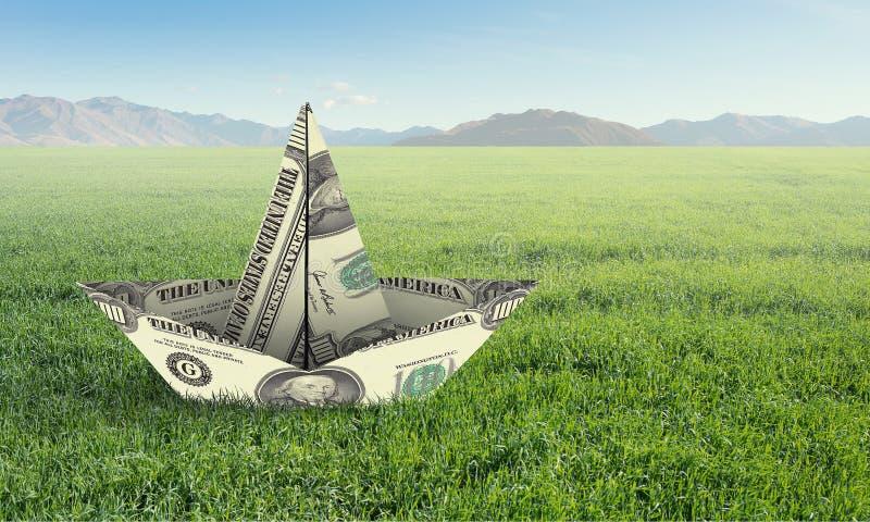 Concetto del crisi finanziario Media misti fotografia stock