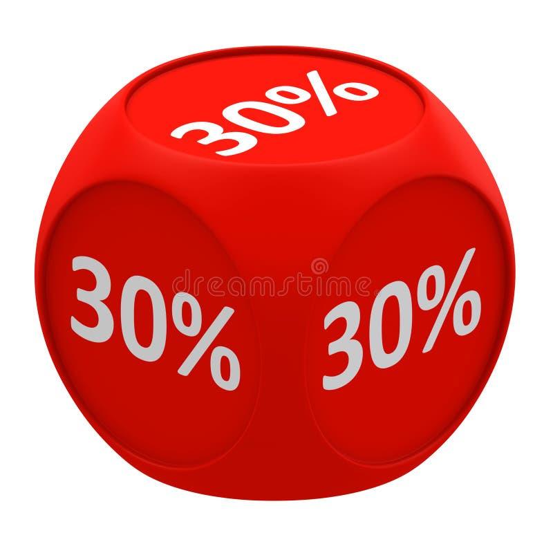 Concetto 30% del cubo di sconto royalty illustrazione gratis