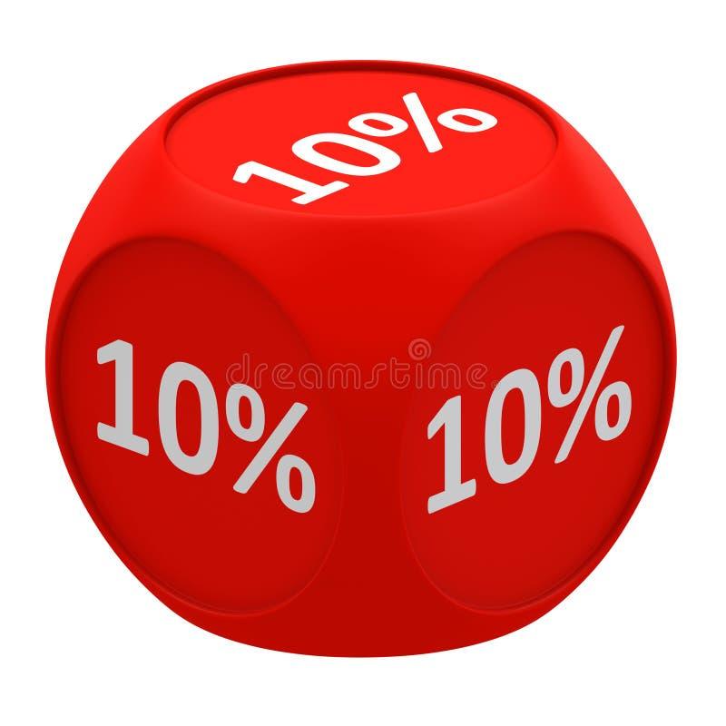 Concetto 10% del cubo di sconto royalty illustrazione gratis