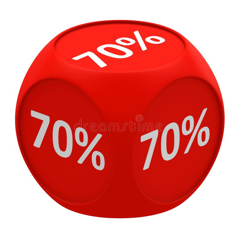 Concetto 70% del cubo di sconto royalty illustrazione gratis